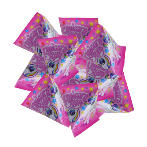 Unicorn Stars Dextrose Sweets - Candy Pyramid Pouches Rose Confectionery 6g